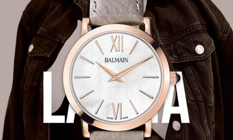Mooi en elegant dames horloges van het Zwitserse horloge merk Pierre Balmain.