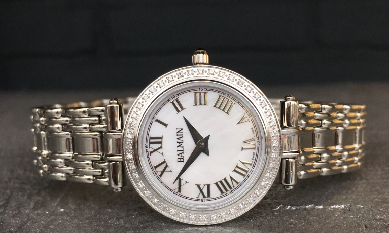 Pierre Balmain horloge met diamant.