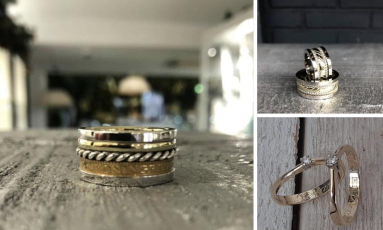 Atelier is open!  Wij maken in ons atelier veel sieraden van bestaande trouwringen.