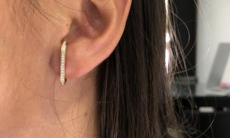 Gouden oorbel met diamant van Culet. Durf jij anders te zijn?
