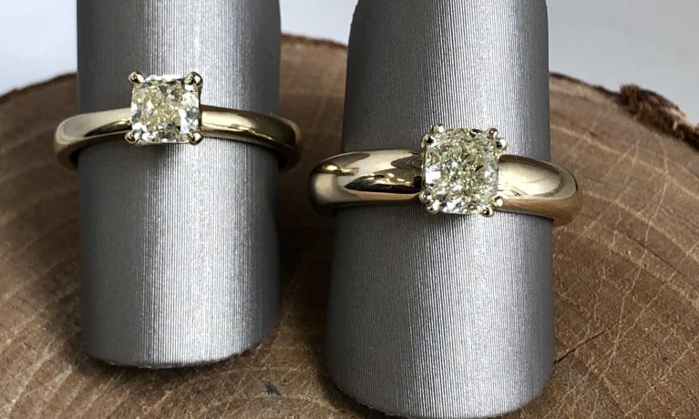 1.13crt radiant geslepen diamant