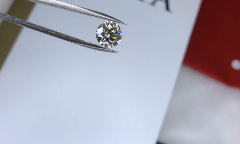 Diamant met GIA certificaat 1.01crt.