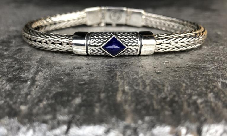 Armband Ellen xs stone blue.