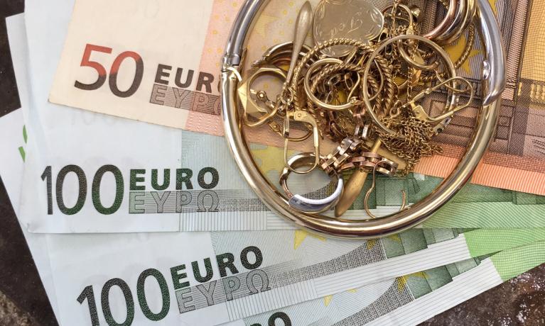 Goud = geld.