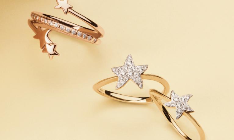 DoDo ringen met ster en diamanten.