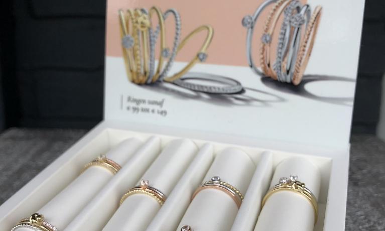nieuw gouden aanschuif ringen vanaf €99,-
