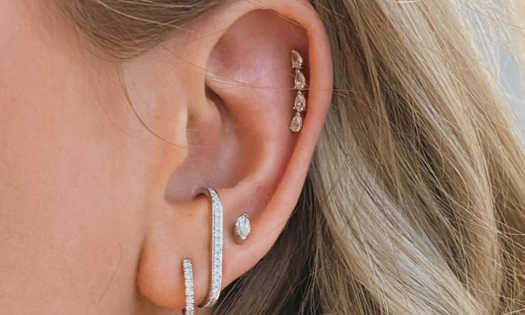 Grote collectie diamanten oorbellen