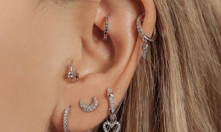 Diamanten earparty van Culet.