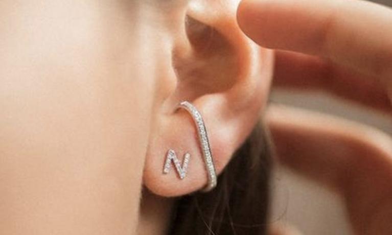 Culet, het nieuwe sieraden merk. Diamanten sieraden gezet in 18krt. goud. Op de foto misschien wel de allerleukste oorbel die er is.